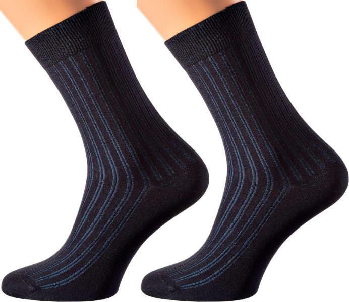 Manhattan Collection - Mercerized Cotton Socks - Crew Length - Sizes: M-XL