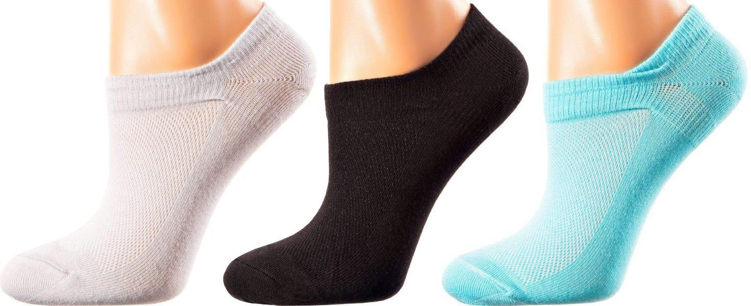 Maui Collection - Mercerized Cotton Socks - Quarter Length - Sizes: S-L