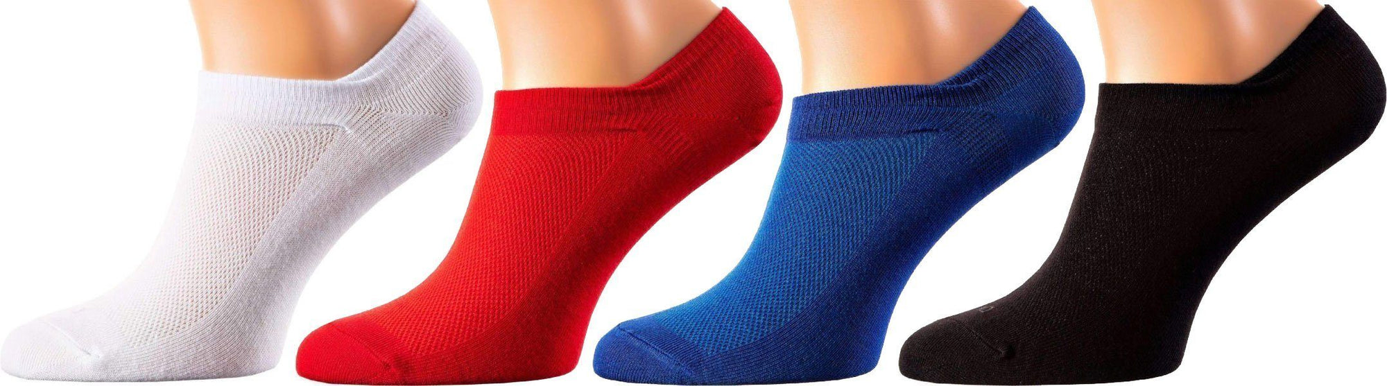 Monte Carlo Collection - Mercerized Cotton Socks - Quarter Length - Sizes: M-XL