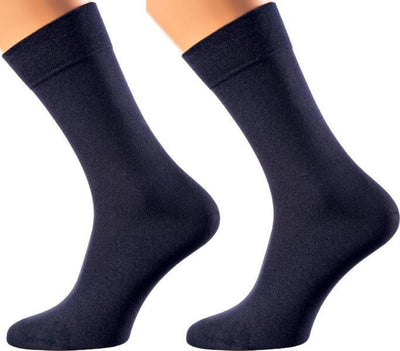 Portofino Collection - Bamboo Socks - Super Breathable - Sweat Defense - Long Lasting - Executive Length (Crew) - S-XL Sizes - Many Colors MEN SOCKS SOXESSORY M-L (6-10 MEN SHOE SIZE AND 7.5-11.5 WOMEN) BLUE