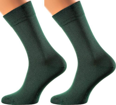 Portofino Collection - Bamboo Socks - Super Breathable - Sweat Defense - Long Lasting - Executive Length (Crew) - S-XL Sizes - Many Colors MEN SOCKS SOXESSORY M-L (6-10 MEN SHOE SIZE AND 7.5-11.5 WOMEN) GREEN