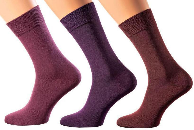 Purple Rain Collection - Mercerized Cotton Socks - Crew Length - Sizes M-XL
