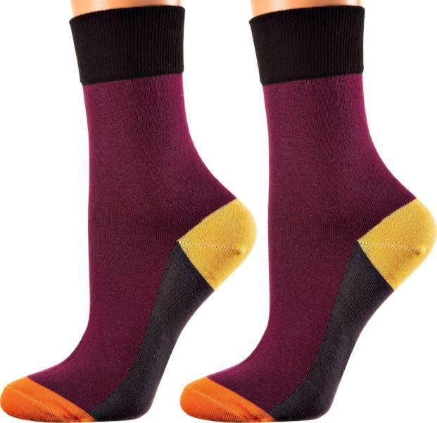 San Fernando Collection - Mercerized Cotton Socks - Crew Length - Sizes: S-L