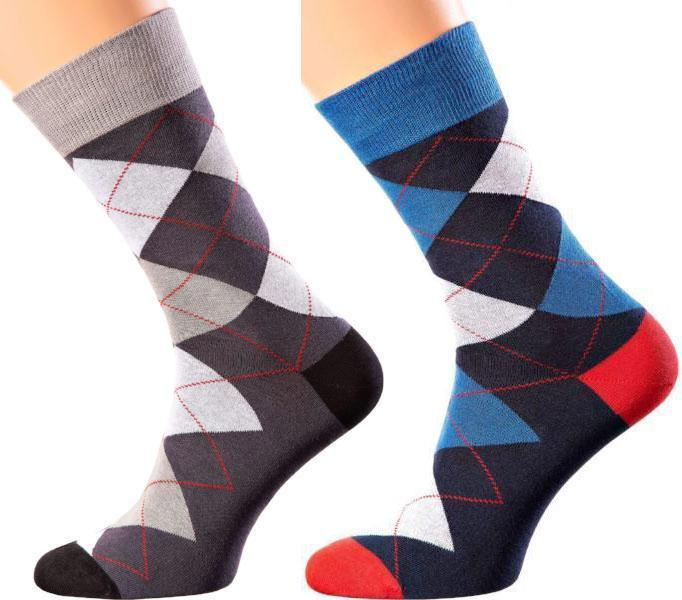 Scotland Collection - Mercerized Cotton Socks - Crew Length - Sizes: M-XL