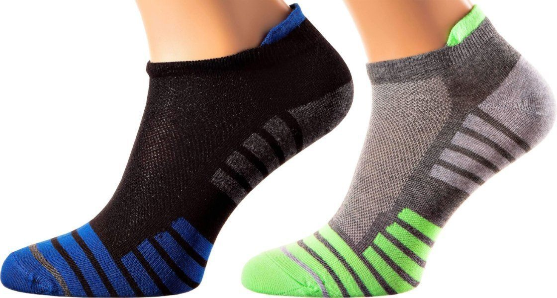 Tokyo Collection - Mercerized Cotton Sports Socks - Extra Front and Back Support - Quarter Length - Sizes M-XL