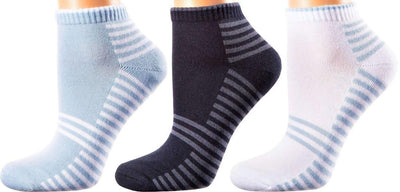 Valencia Collection - Mercerized Cotton Socks - Quarter Length - Size: S-L WOMEN SOCKS SOXESSORY
