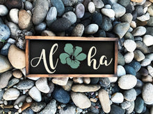 "Load image into Gallery viewer, 6"" x 12"" Aloha Rustic Sign 