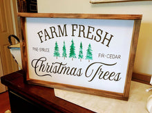 Load image into Gallery viewer, Christmas Sign  |   Wooden Christmas Sign  |  Home For The Holidays  |  wedding gift |  farmhouse decor |  Farmhouse Christmas