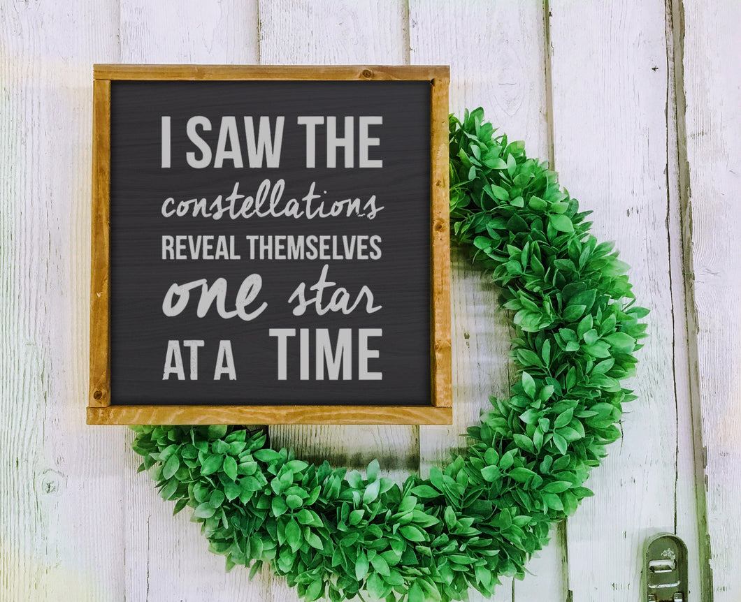 Tragically Hip Art Sign Decor Bobcaygeon Constellations Housewarming Gift - Canadian Farmhouse