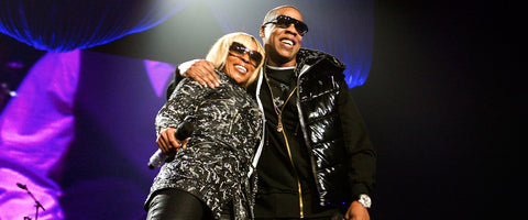 Jay-Z and Mary J Blige on April 8, 2008 in Atlanta, Georgia. (Photo by Annette Brown/Getty Images)