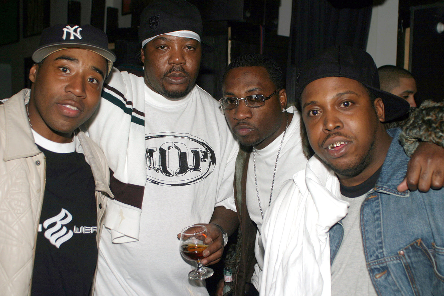 Positive K, Billy Danze of M.O.P., Scoob Lover and Lil' Fame of M.O.P. (Photo by Johnny Nunez/WireImage)