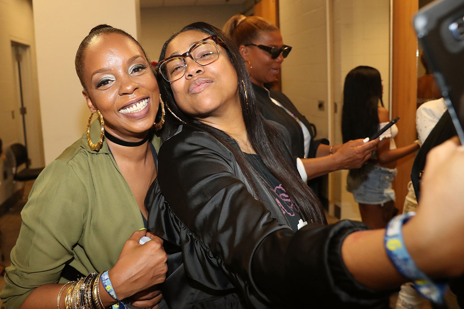 Rah Digga and Monie Love backstage at the 2017 Hot 97 Summer Jam at MetLife Stadium on June 11, 2017 in East Rutherford, New Jersey. (Photo by Johnny Nunez/WireImage)