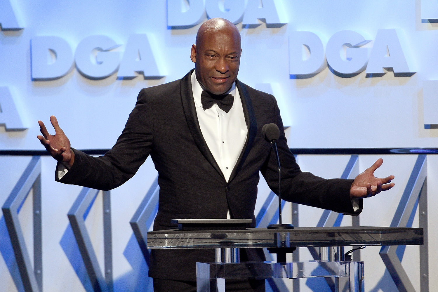 Director John Singleton speaks onstage during the 70th Annual Directors Guild Of America Awards at The Beverly Hilton Hotel on February 3, 2018 in Beverly Hills, California. (Photo by Kevork Djansezian/Getty Images for DGA)