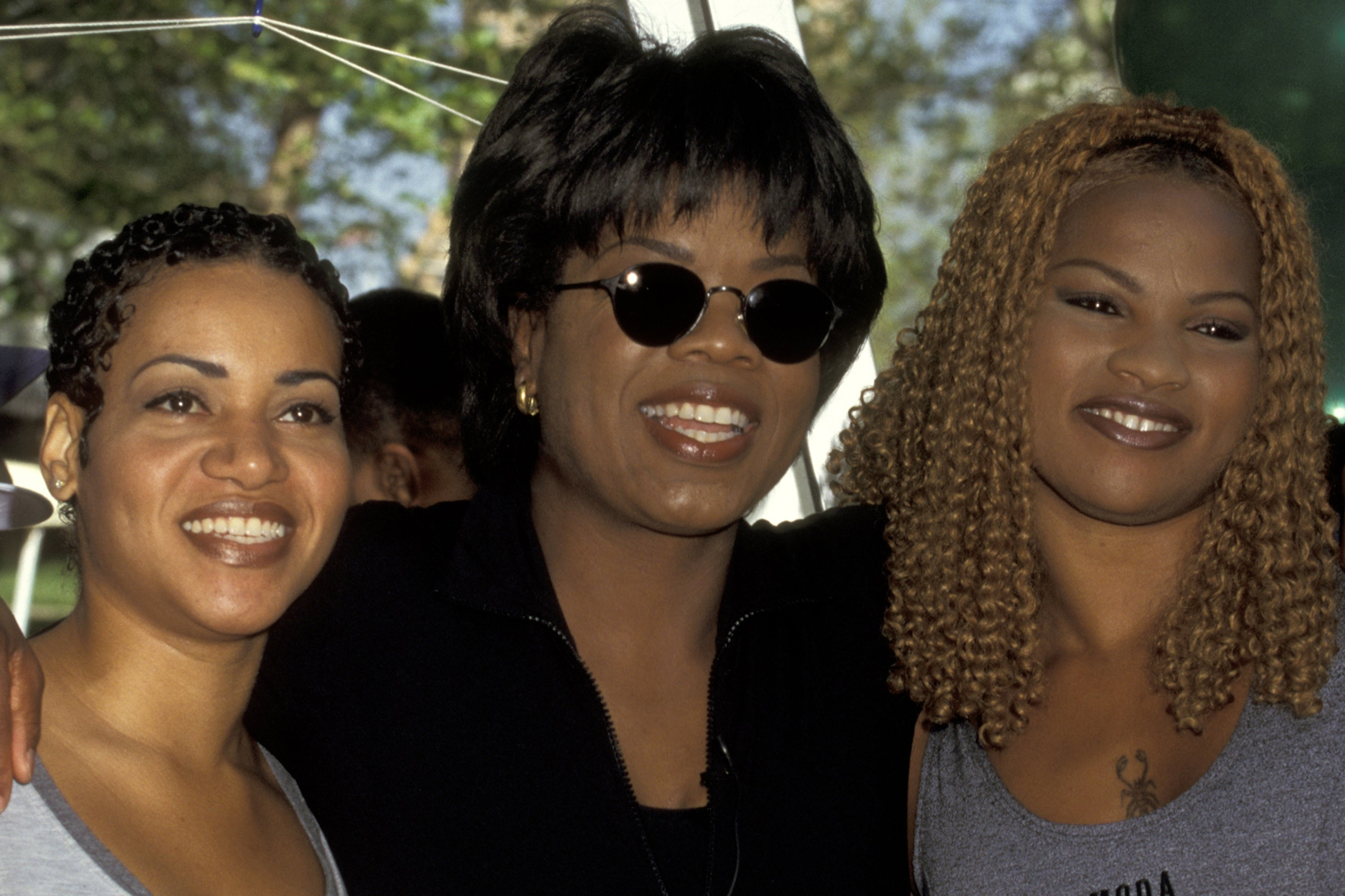 "Cheryl ""Salt"" James and Sandra ""Pepa"" Denton of Salt-N-Pepa with Oprah Winfrey"