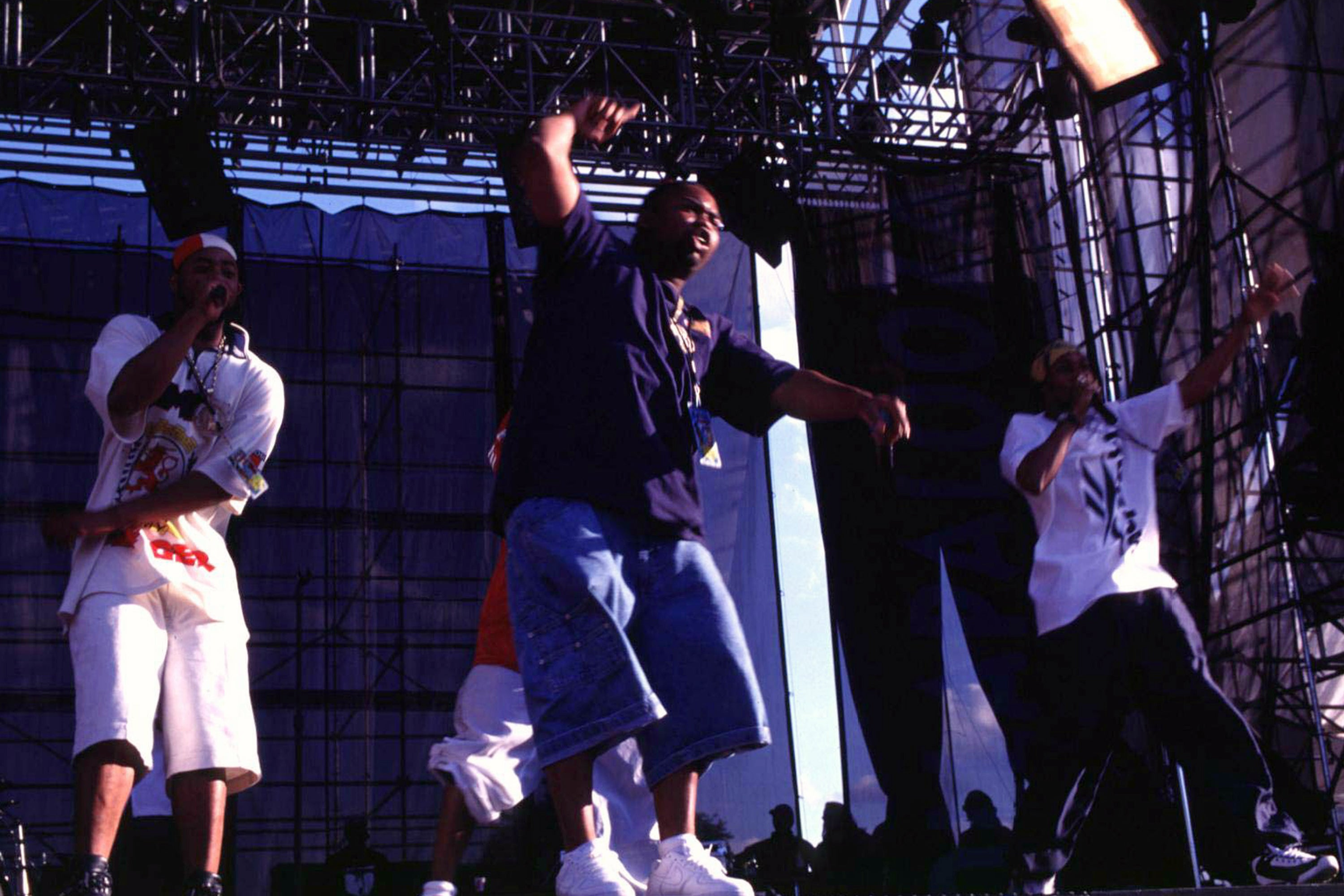 Wu-Tang Clan during Lollapalooza 1996 at Downing Stadium, Randall's Island in New York City at Downing Stadium, Randall's Island in New York, New York, United States. (Photo by Steve Eichner/WireImage)