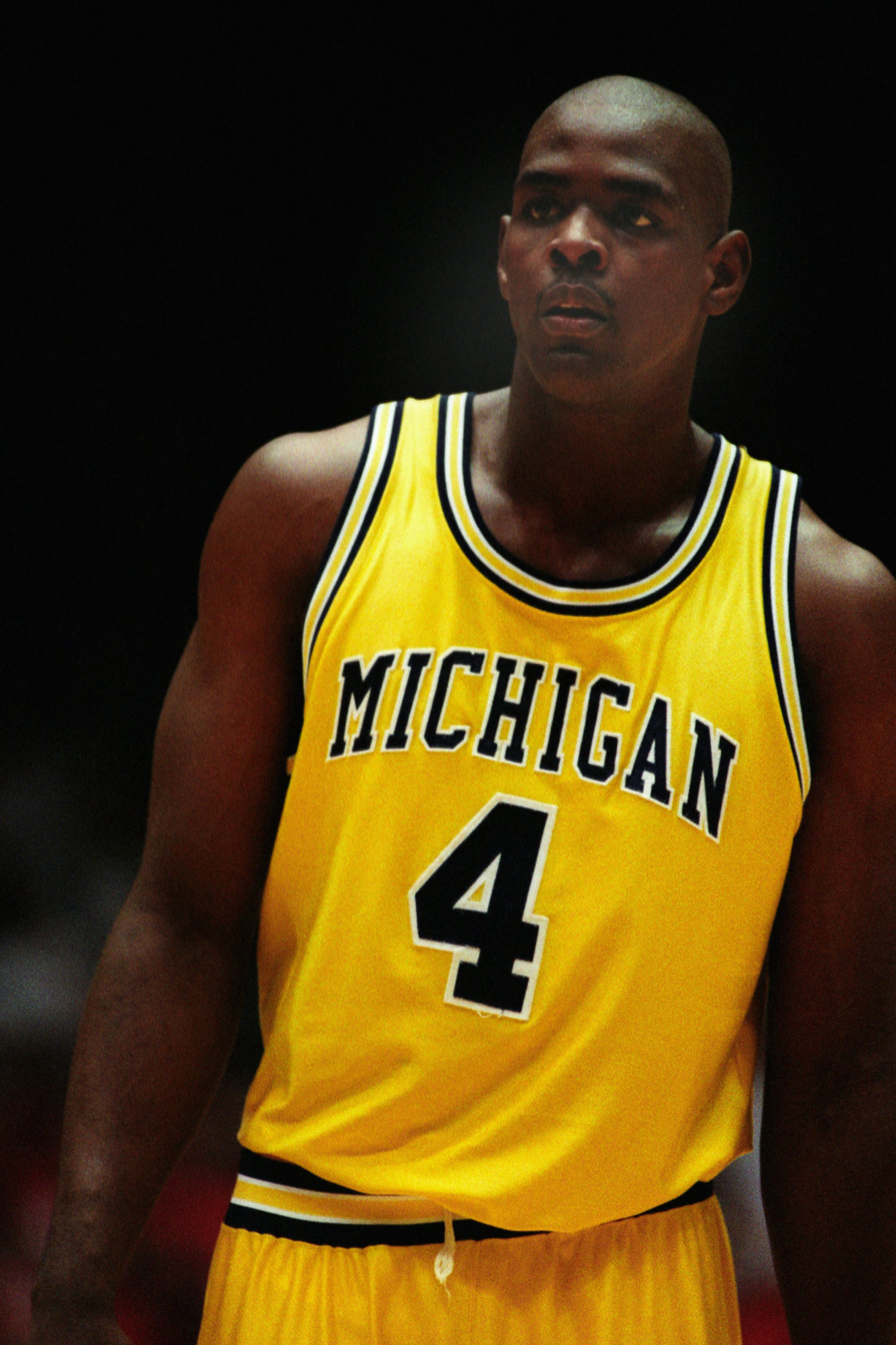 Chris Webber #4 of the Michigan Wolverines