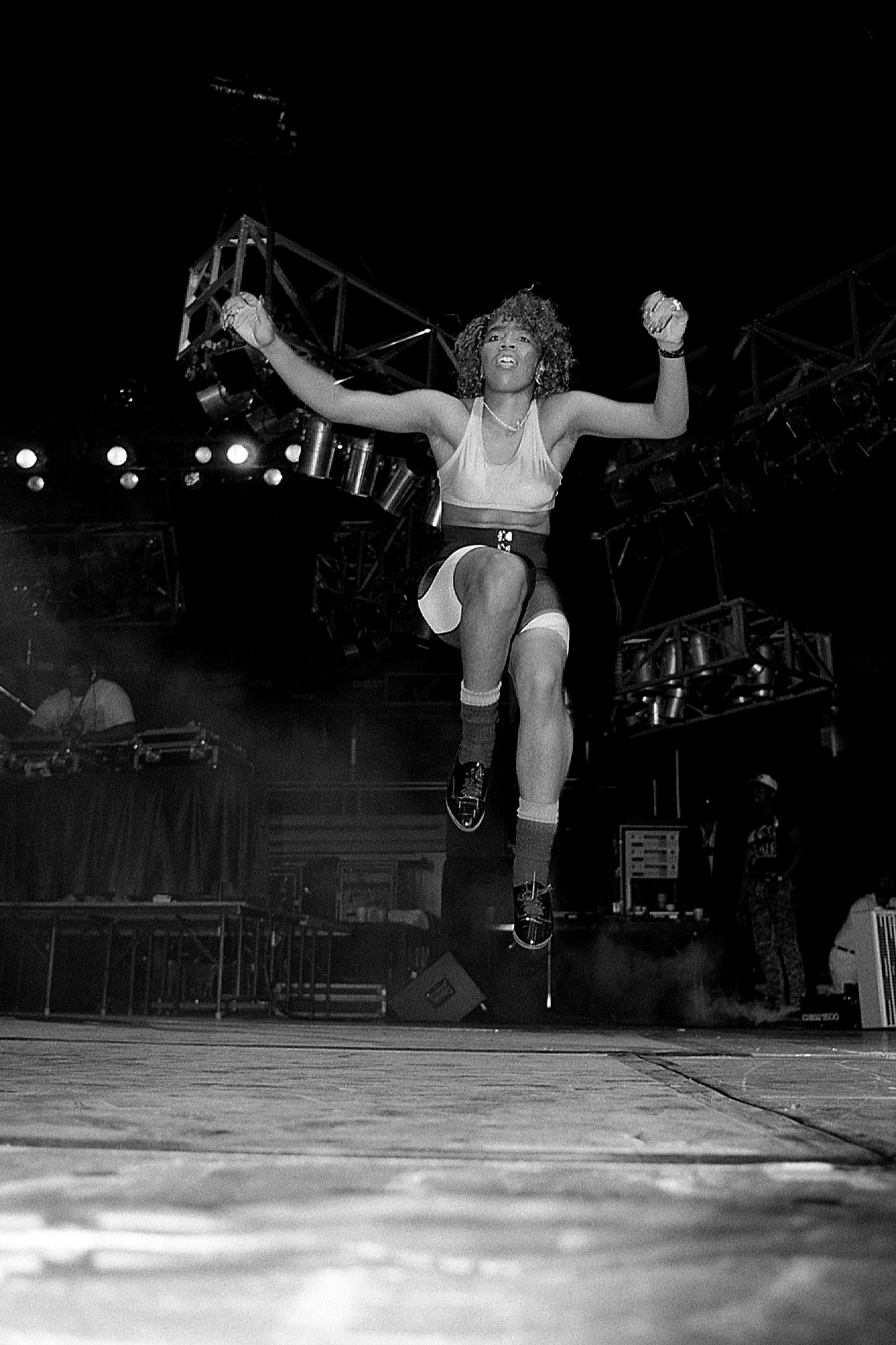 Sweet L.D. of Oaktown's 3.5.7. performs at Kemper Arena in Kansas City, Missouri in April 1989. (Photo By Raymond Boyd/Getty Images)