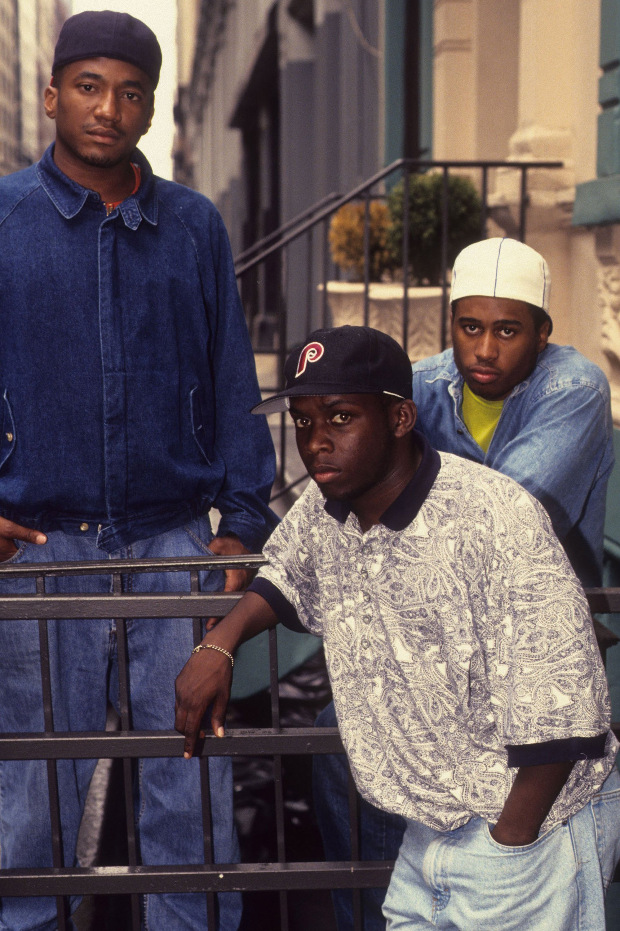 Q-Tip, Phife Dawg and Ali Shaheed Muhammad of A Tribe Called Quest 1991 New York
