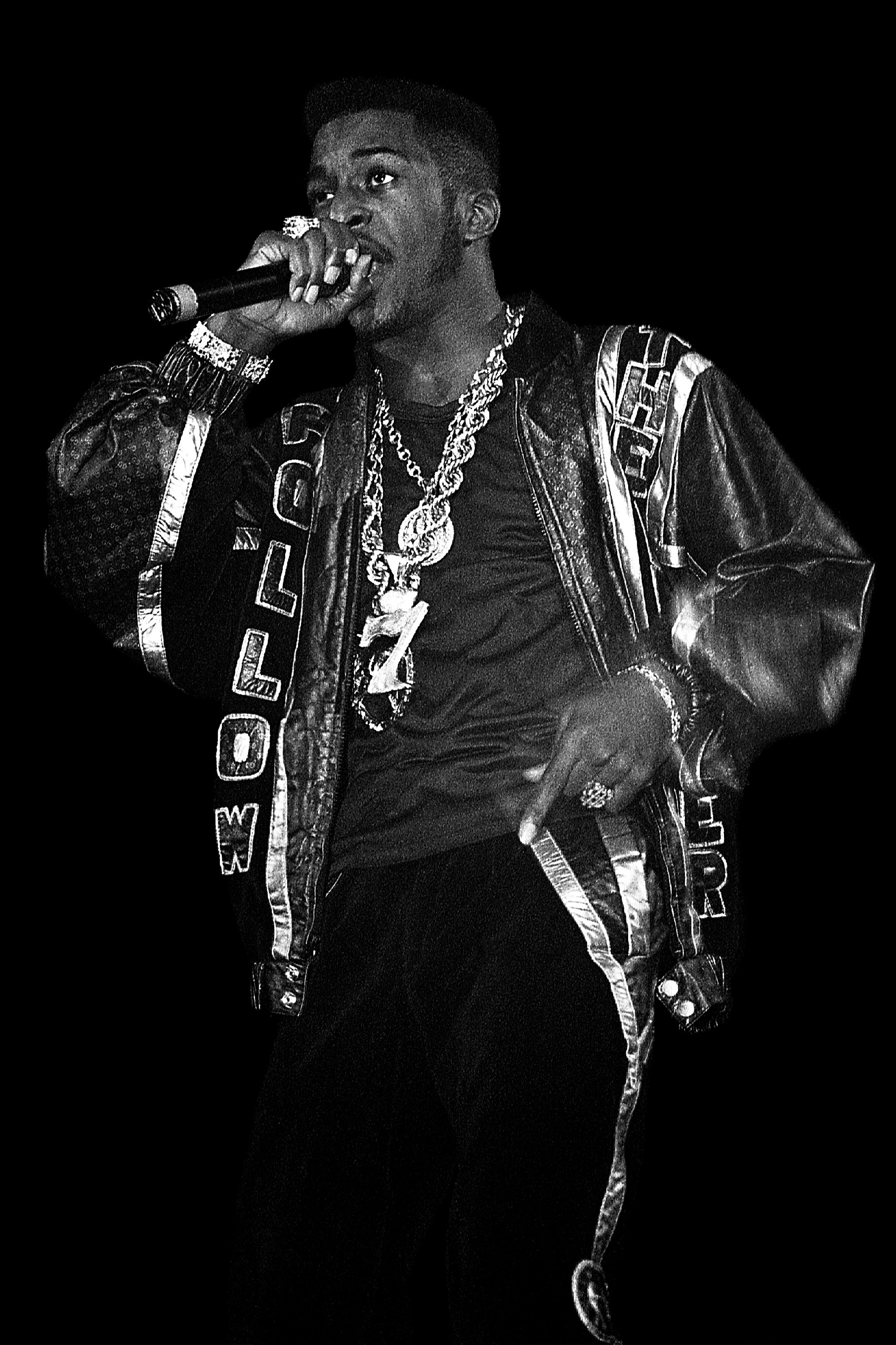 Rakim of Eric B. and Rakim performs at the Mecca Arena in Milwaukee, Wisconsin in August 1988. (Photo By Raymond Boyd/Getty Images)