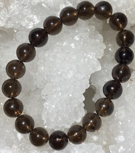 Bracelet Quartz Fumé 10 mm