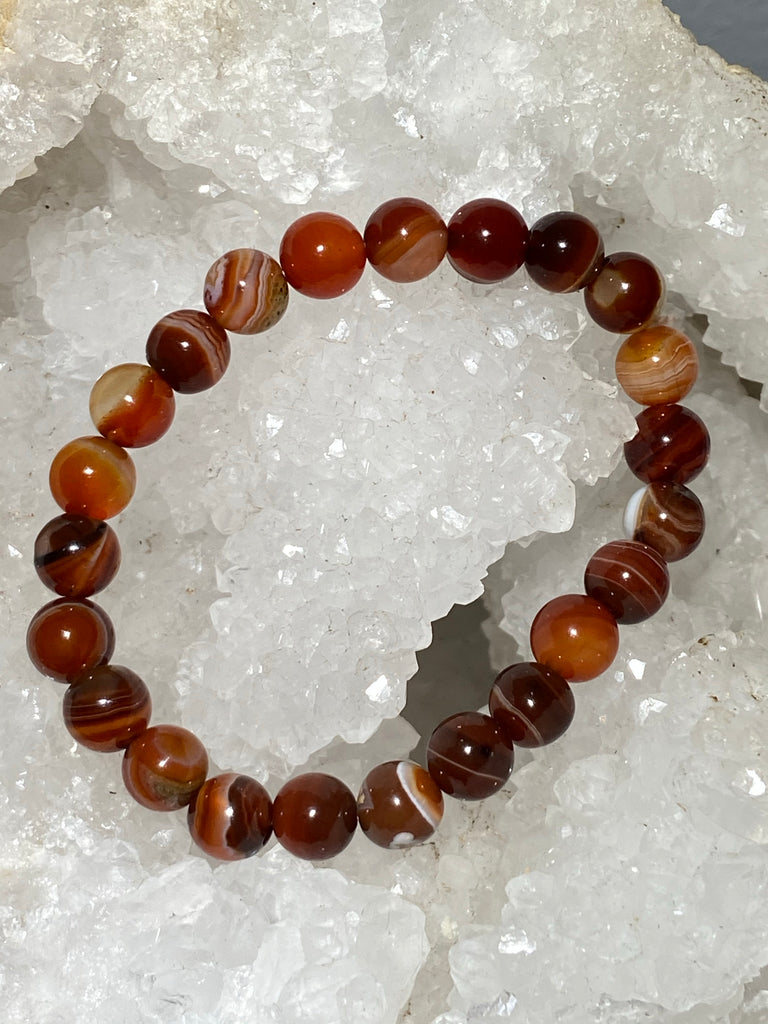 Bracelet Agate Rouge (8mm)