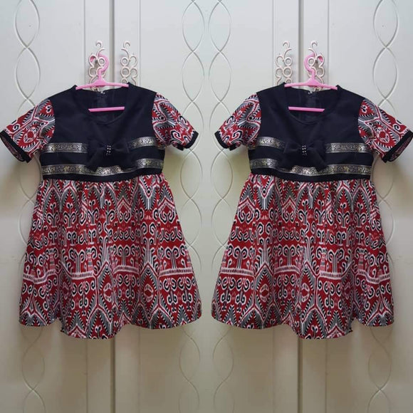 Pua Kumbu Pattern Dress For Kid 12