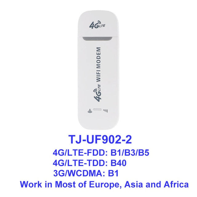 TIANJIE UF902 3G 4G USB Wifi modem Router dongle Unlocked Pocket wifi  Hotspot Wi-Fi Routers Wireless Modem with SIM Card Slot