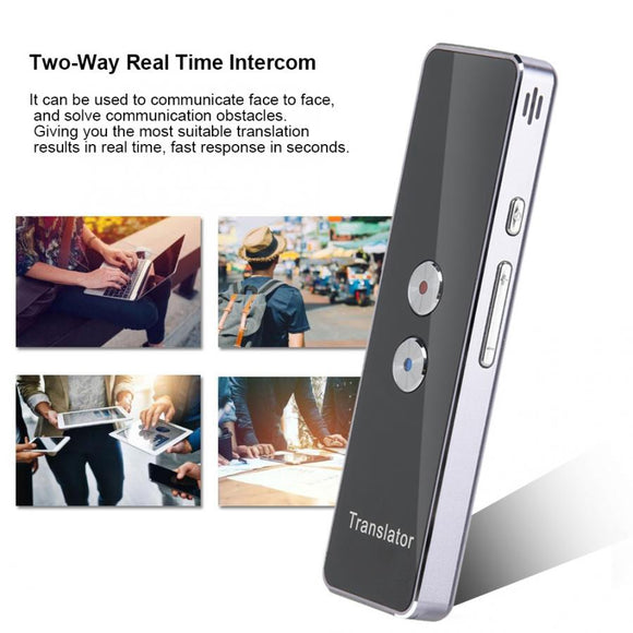 T8 language translator 2.4G Smart Bluetooth Pocket Interpreter Real Time Speech Multilingual Translator Purple instant translate