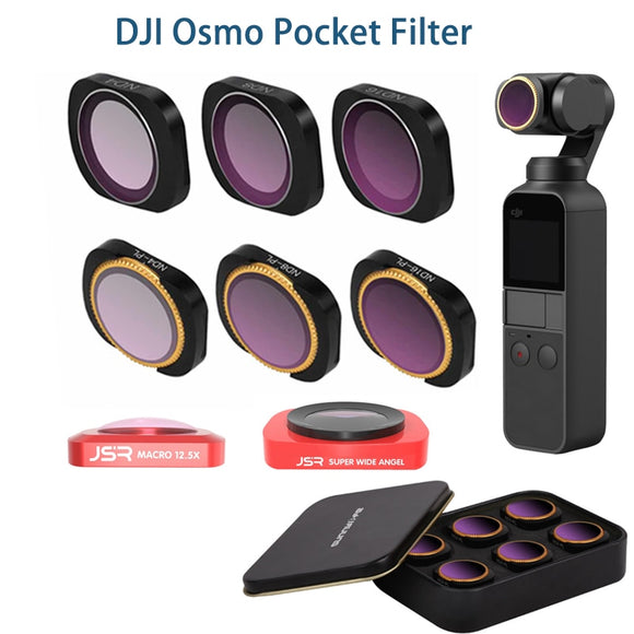 DJI osmo pocket filter ND CPL filters kit osmo pocket accessories polar ND4 8 16 32 UV osmo pocket filters