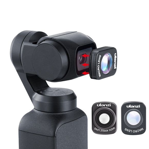 Mini Wide Angle Macro Lens for Dji Osmo Pocket 10X HD 4K Macro Lens Gimbal Accessories Magnetic Ulanzi OP-5 OP-6 Lenses