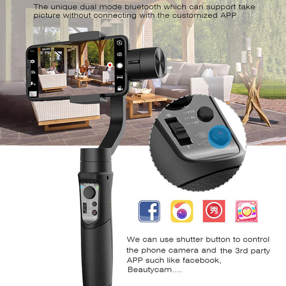 Hohem iSteady Mobile 3-Axis Handheld Gimbal Stabilizer for Gopro sjcam action camera iPhone SamsungPK smooth 4 vimble 2 DJI OSMO