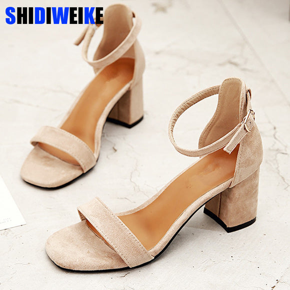Gladiator Sandals High Heels Woman Buckle Strap Pumps