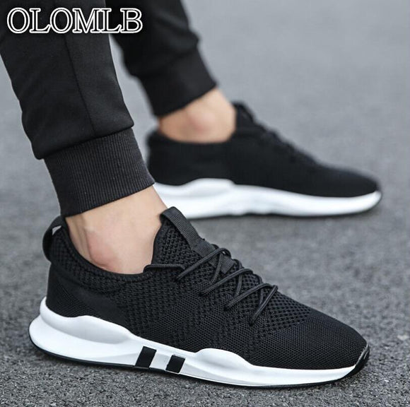 OLOMLB Men's shoes lightweight sports breathable non-slip casual