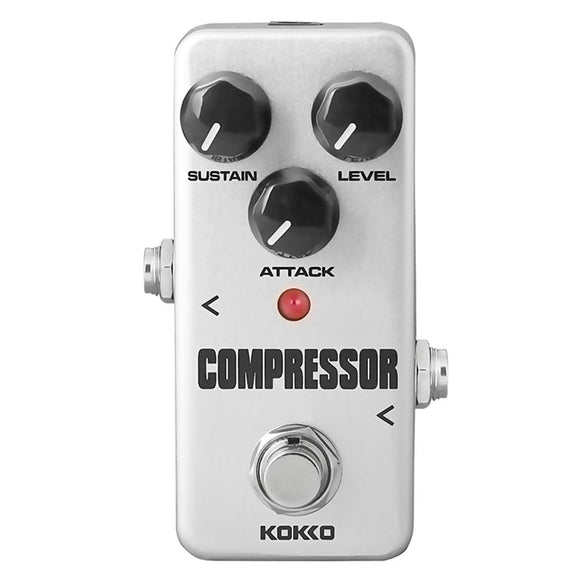 KOKKO Electric Guitar Effects Pedal Mini Compressor DC 9V Aluminum Single Pedal Guitarra Effect Guitar Parts Accessories FCP-2