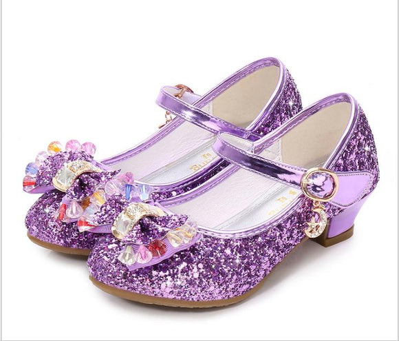 Children Princess Sandals Kids Girls Wedding Shoes High Heels