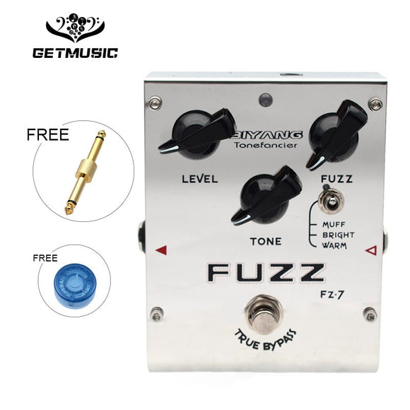 Biyang Tonefancier FZ-7 Guitar Bass Effect Pedal 3 Models Fuzz Effect guitar Pedal True Bypass with gold pedal connector