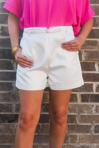 MOLLY BRACKEN GOLD SHIMMER SHORTS