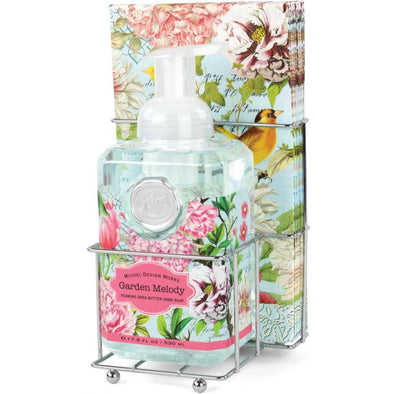 GARDEN MELODY FOAMING SOAP & NAPKIN SET