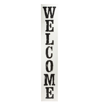 WHITEWASHED WELCOME BOARD