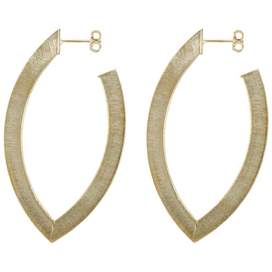 SHEILA FAJL SMALL ALBA HOOP EARRING IN BRUSHED GOLD