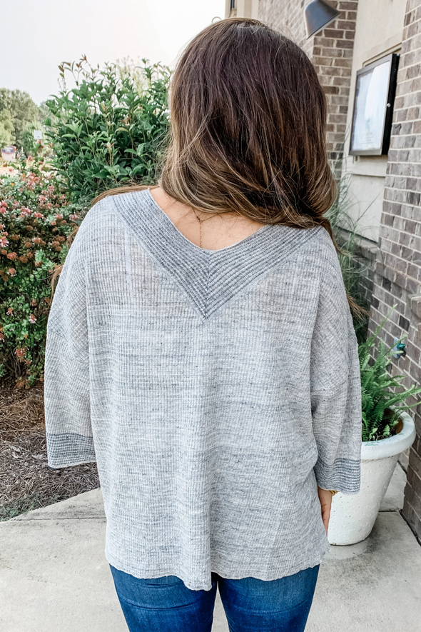 HEATHER GREY LINEN CARDIGAN