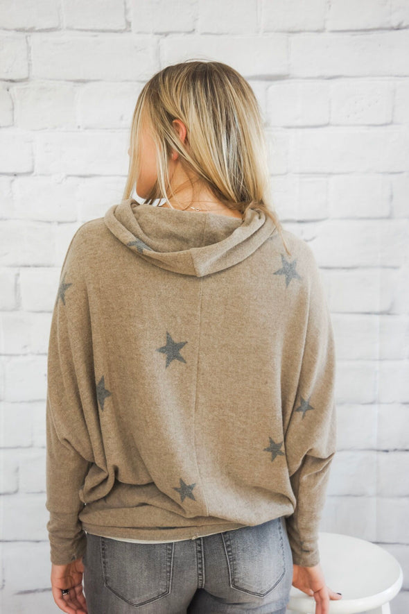 KARLIE STAR FLEECE SWEATER