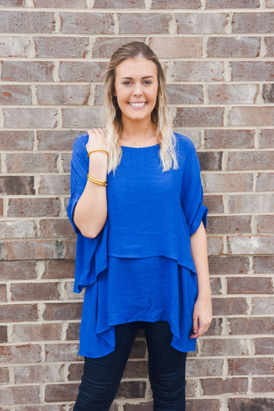 COBALT BLUE LAYERED TUNIC