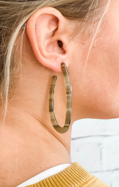 GOOD SIDE EARRINGS IN OLIVE