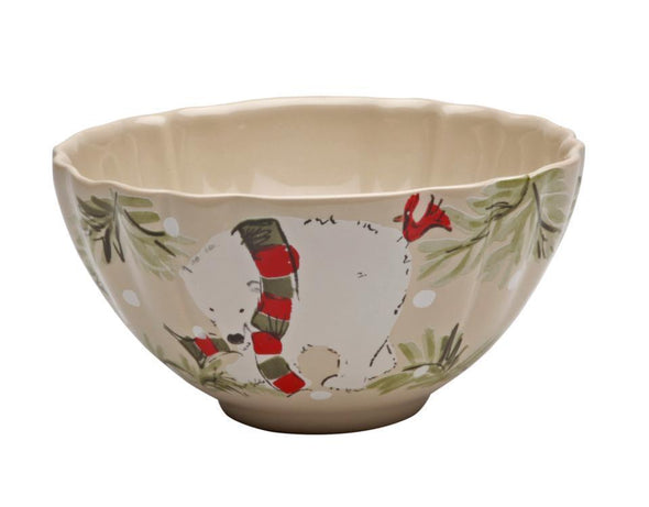 DEER FRIENDS CEREAL BOWL - LINEN