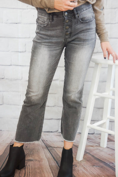 DRIFT AWAY CROPPED BOOTCUT JEANS