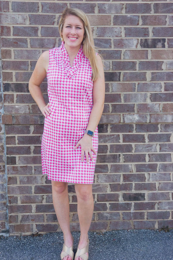 SYDNEY RUFFLE COLLAR DRESS
