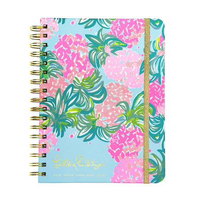 2020-2021 LILLY PULITZER 17 MONTH LARGE AGENDA IN PINEAPPLE SHAKE