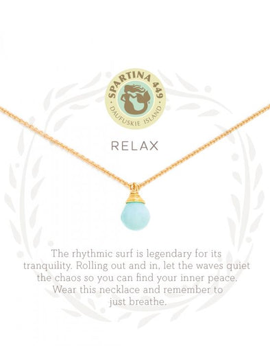 RELAX/WATER DROP SEA LA VIE NECKLACE
