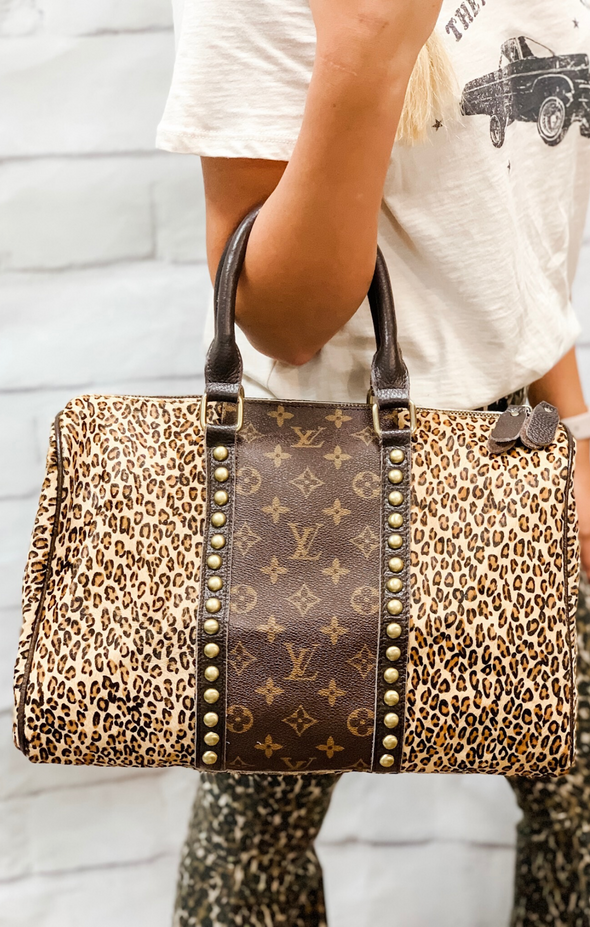 LOUIS VUITTON SPEEDY LEOPARD BAG